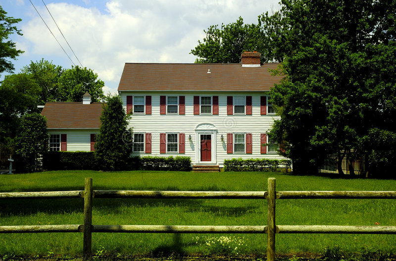 Download Colonial Style Home stock image. Image of forsale, house - 157659