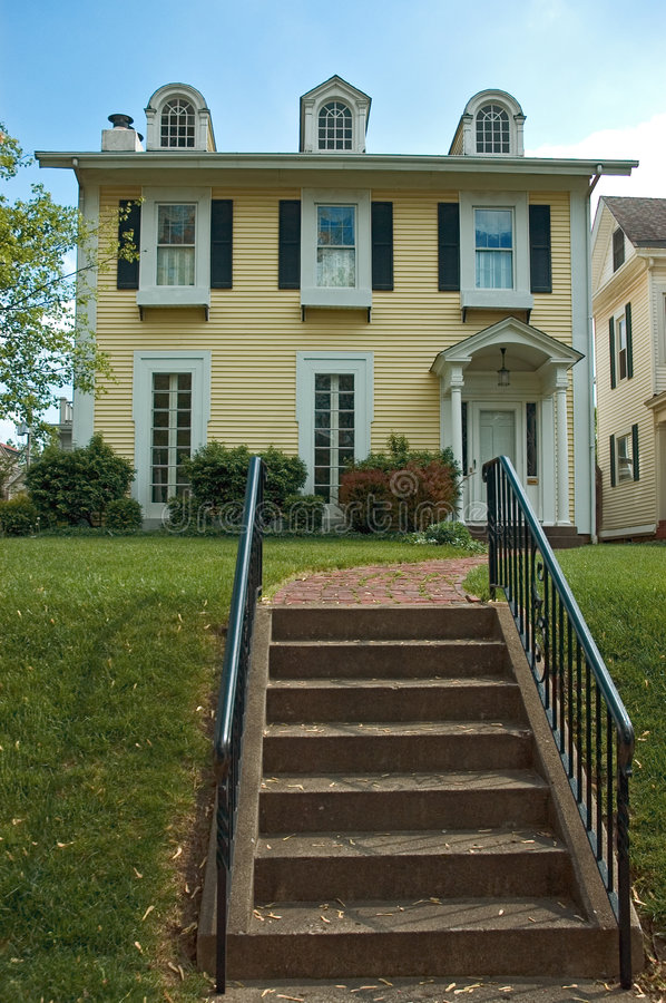 Download Colonial Style Home stock image. Image of house, stairs - 769975