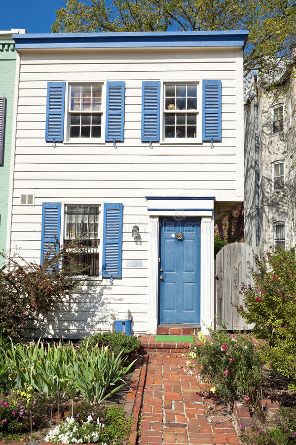 Download Colonial Style Washington DC Row House Home Stock Photo - Image: 18451770