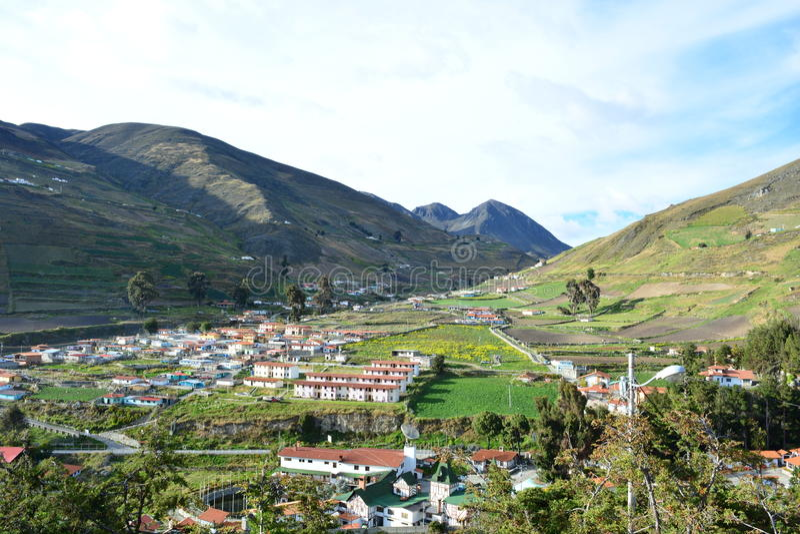 Colonial town in Merida, Venezuela. Panoramic view of a colonial town in Los Paramos, Merida, Venezuela stock photos