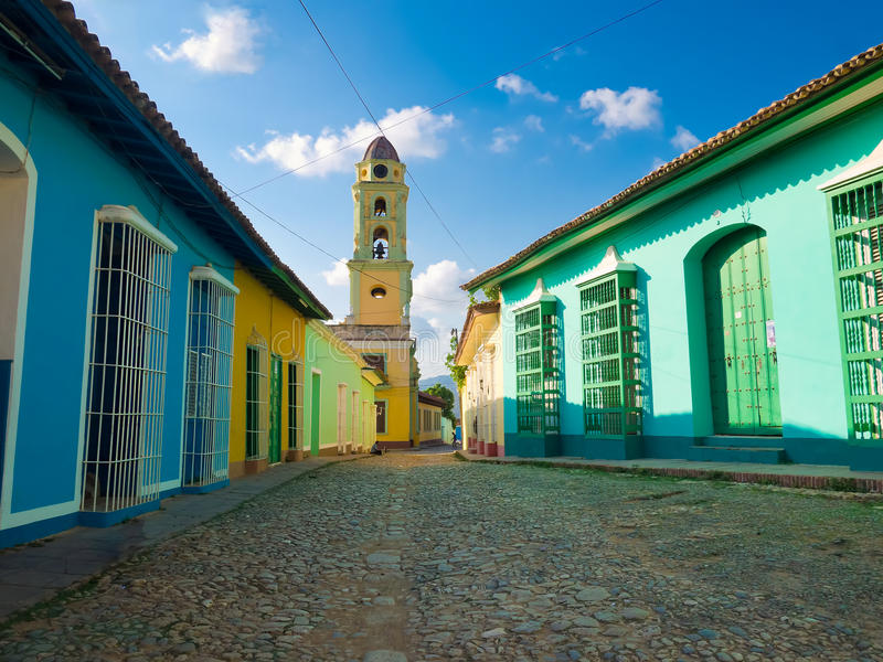 The colonial town of Trinidad in Cuba royalty free stock image