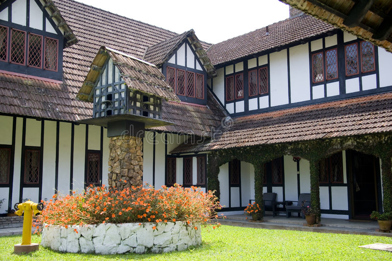 Colonial Tudor Style Mansion royalty free stock images