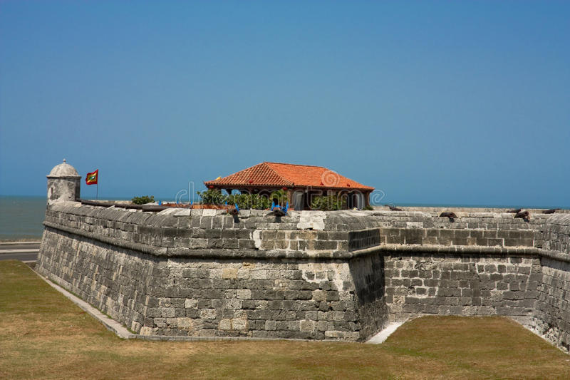 Colonial Wall of Cartagena de Indias. Colombia stock images