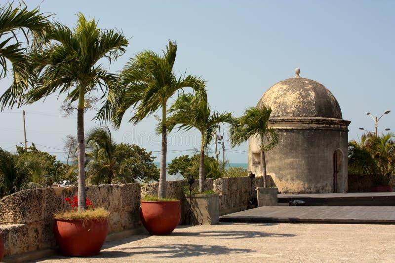Colonial Wall of Cartagena de Indias. Colombia royalty free stock photos