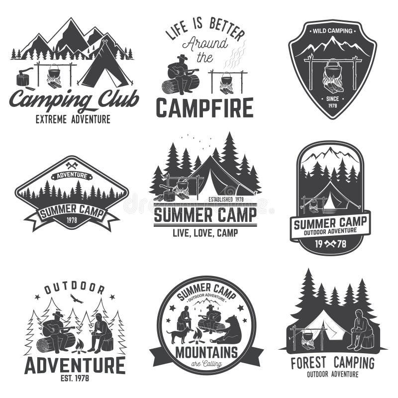 Colonie de vacances Illustration de vecteur Concept pour la chemise ou le logo, la copie, le timbre ou la pièce en t illustration de vecteur