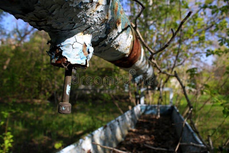 Colonie des vacances des enfants abandonnés à Omsk photos libres de droits