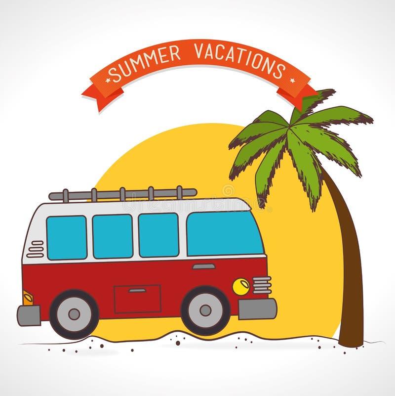 Colonie et voyage de vacances illustration de vecteur