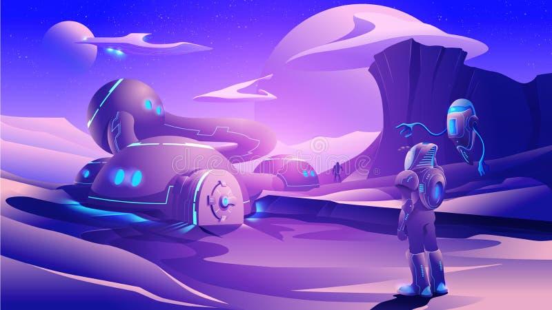 Colonie humaine dans le vecteur illustration stock