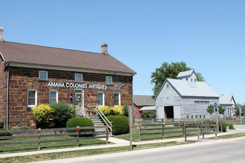Colonies Iowa d'Amana photographie stock libre de droits
