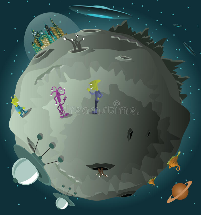 Colonização do planeta ilustração royalty free