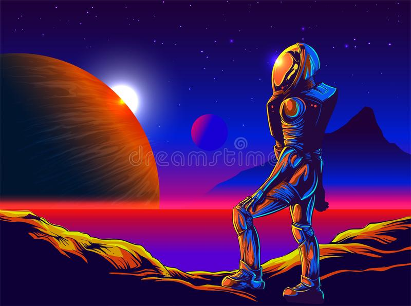 Colonization in Comic Art royalty free illustration