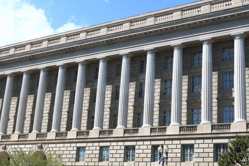 Colonna alla costruzione della giustizia Deaprtment immagini stock