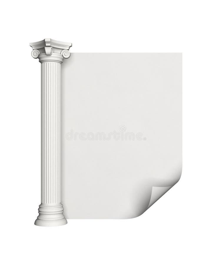 Colonna antica royalty illustrazione gratis