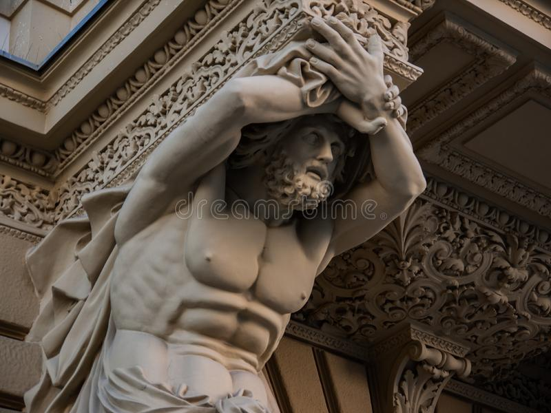 Colonna Antique Atlas fotografie stock