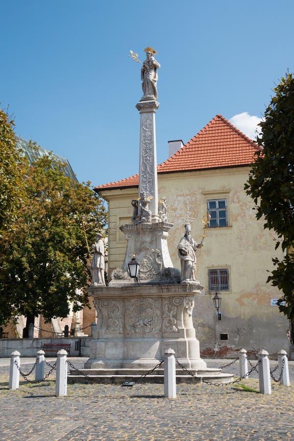 Colonna barrocco di St Joseph, Trnava, Slovacchia fotografia stock