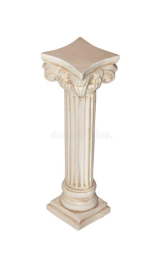 Colonna bianca immagine stock