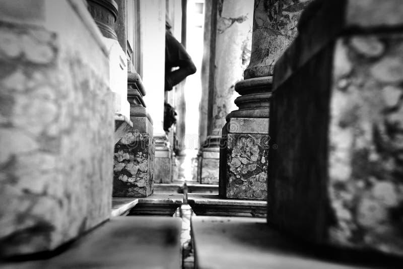 Colonna in bianco e nero fotografie stock libere da diritti