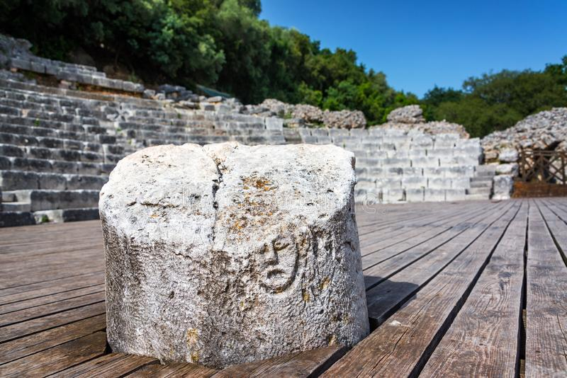 Colonna in Butrint, Albania fotografie stock