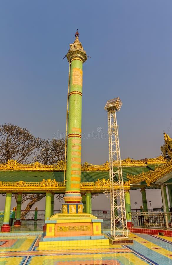 Colonna, collina di Sagaing fotografia stock