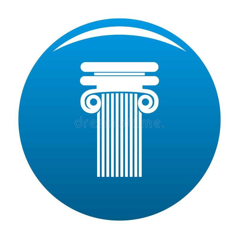 Colonna con il blu dell'icona del ricciolo royalty illustrazione gratis