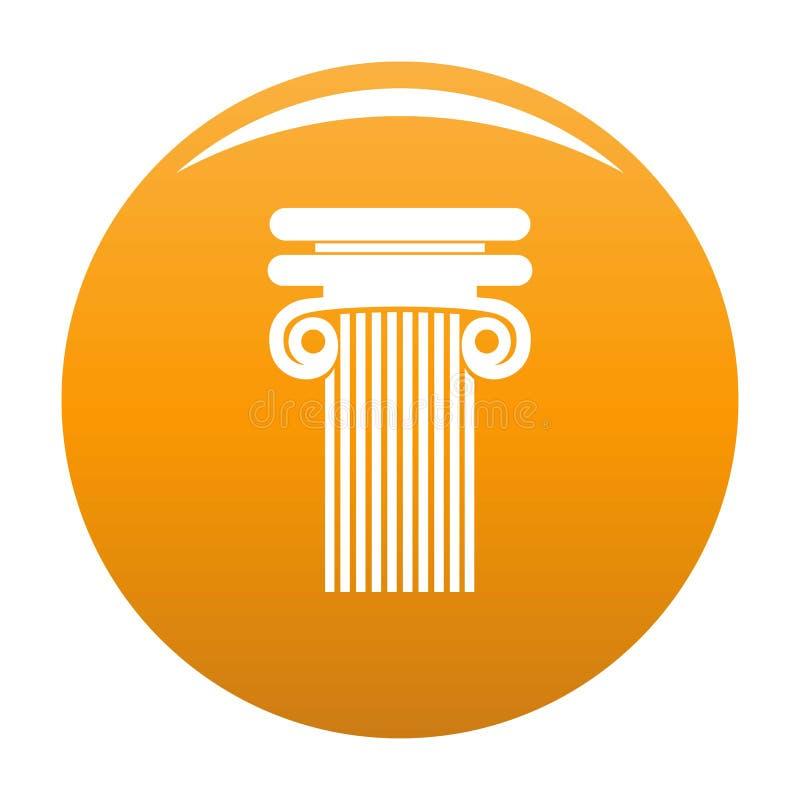 Colonna con l'arancia dell'icona del ricciolo royalty illustrazione gratis