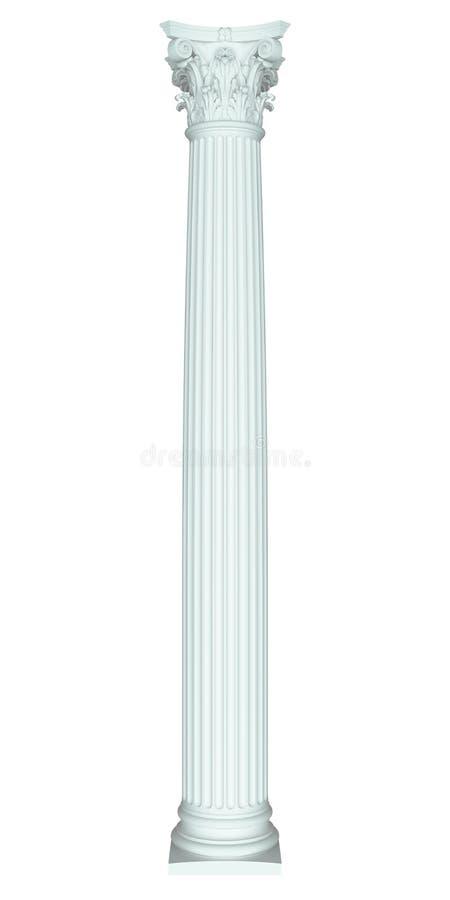 Colonna del Corinthian illustrazione di stock