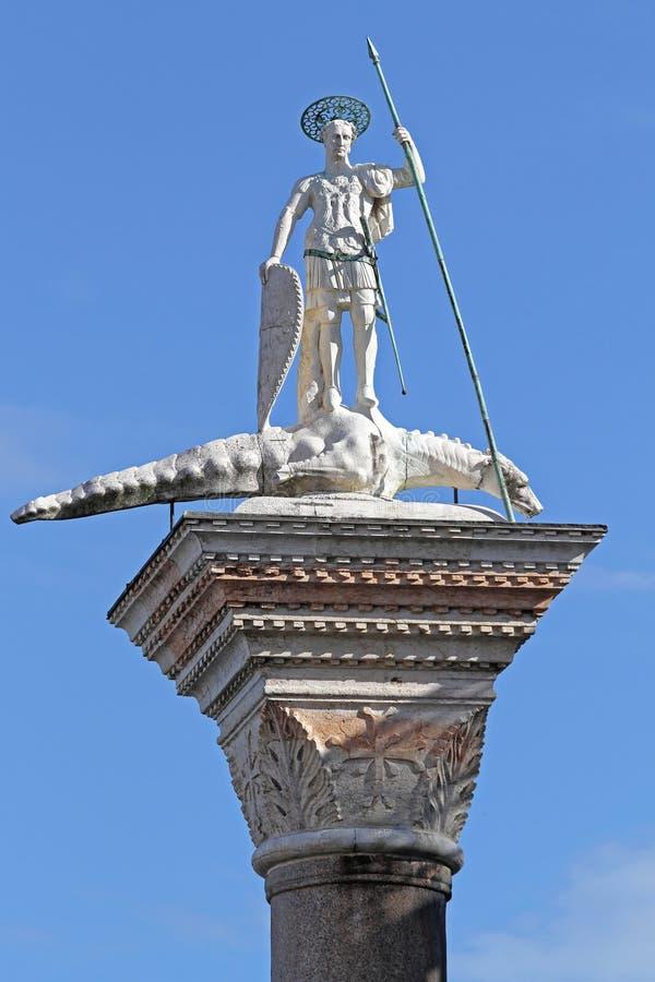 Colonna del san Teodoro II fotografie stock libere da diritti