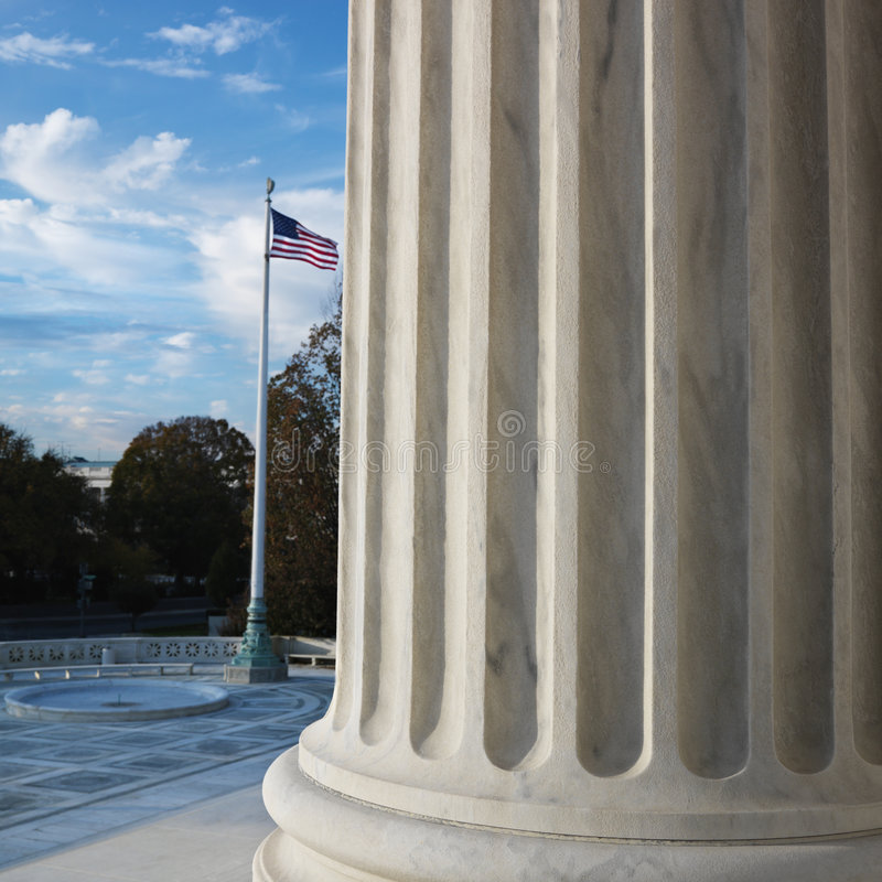 Colonna della Corte suprema fotografia stock libera da diritti