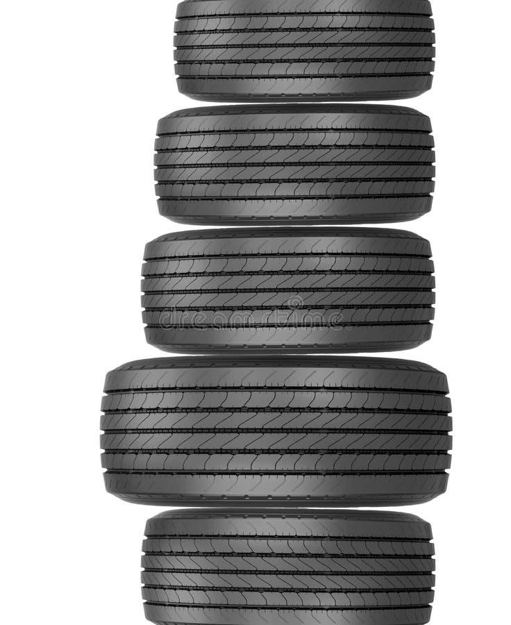 Colonna delle gomme immagine stock