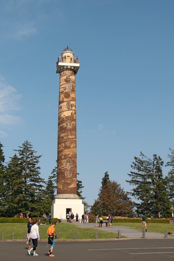Colonna di Astoria Oregon fotografia stock