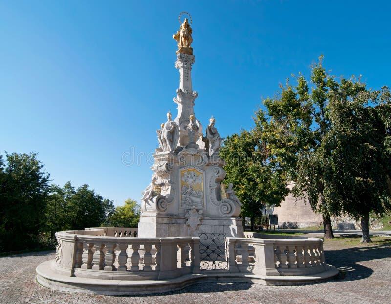 Colonna di peste in Nitra fotografia stock