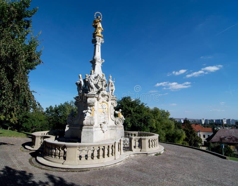 Colonna di peste in Nitra, Slovacchia fotografia stock libera da diritti