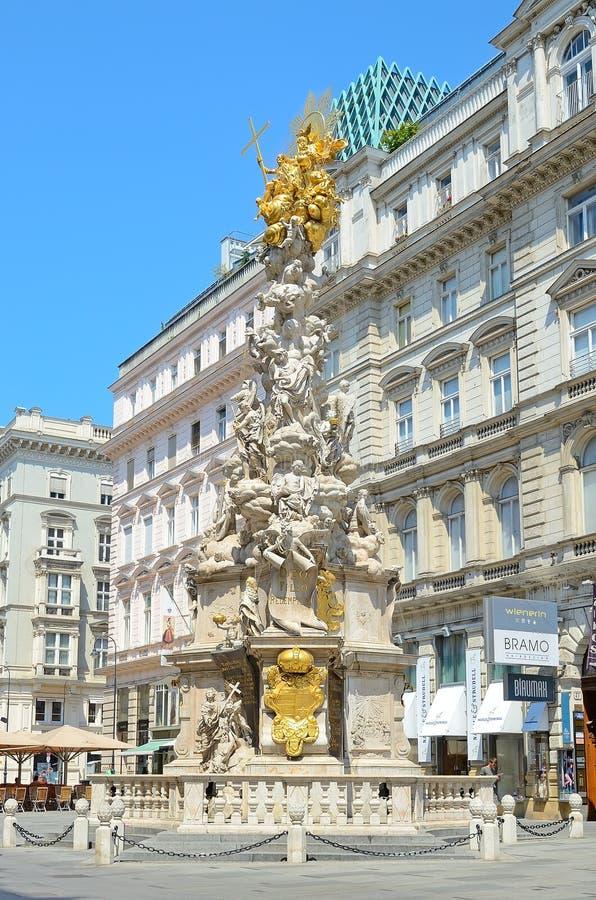 Colonna di peste a Vienna, Austria fotografia stock libera da diritti