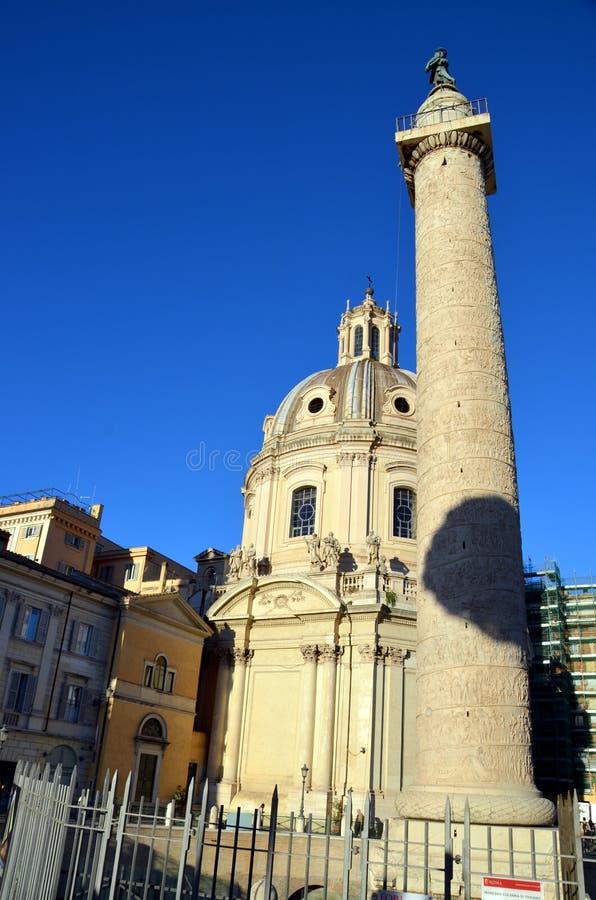 Colonna di Traiano in Italia, Roma immagini stock libere da diritti