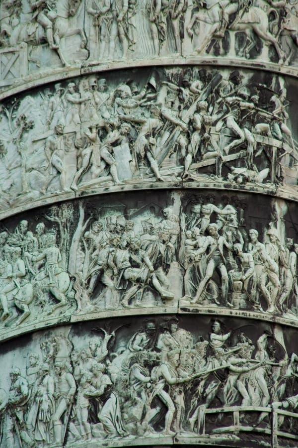 Colonna di Vendome - particolare fotografia stock
