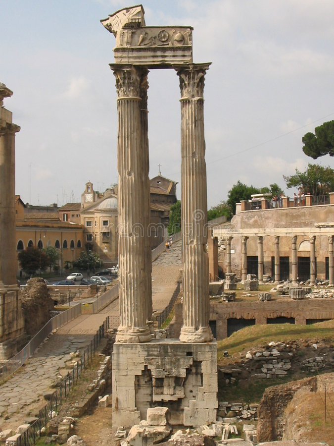 Download Colonna dil foro romano stock image. Image of past, columns - 32895