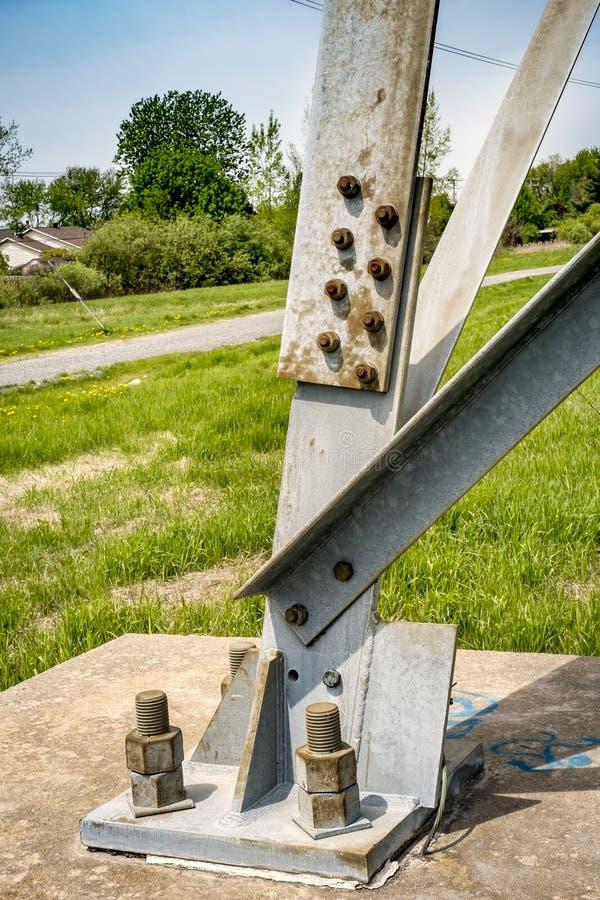 Colonna elettrica del pilone fotografia stock libera da diritti