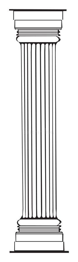 Colonna greca illustrazione vettoriale