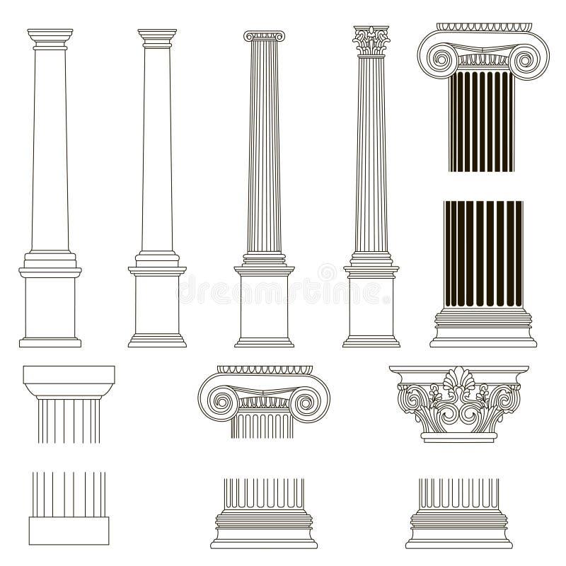 Colonna ionica illustrazione di stock