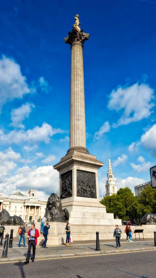 Colonna Londra del ` s del Nelson immagini stock