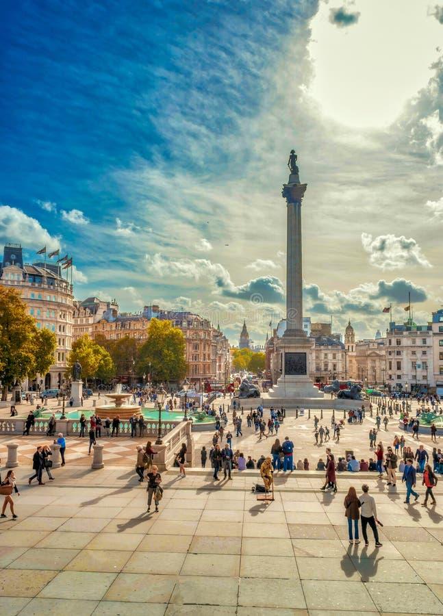 Colonna Londra del ` s del Nelson immagine stock libera da diritti