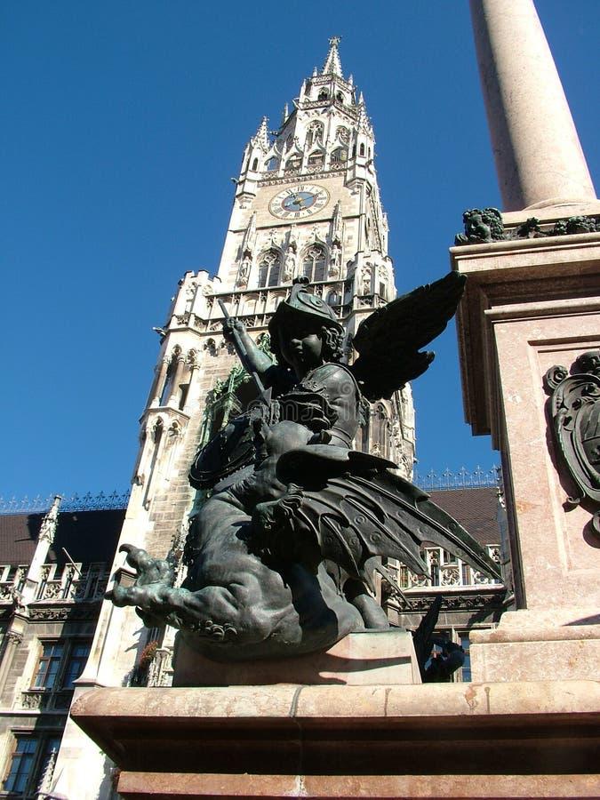 Colonna mariana Monaco di Baviera del Cherub fotografia stock libera da diritti