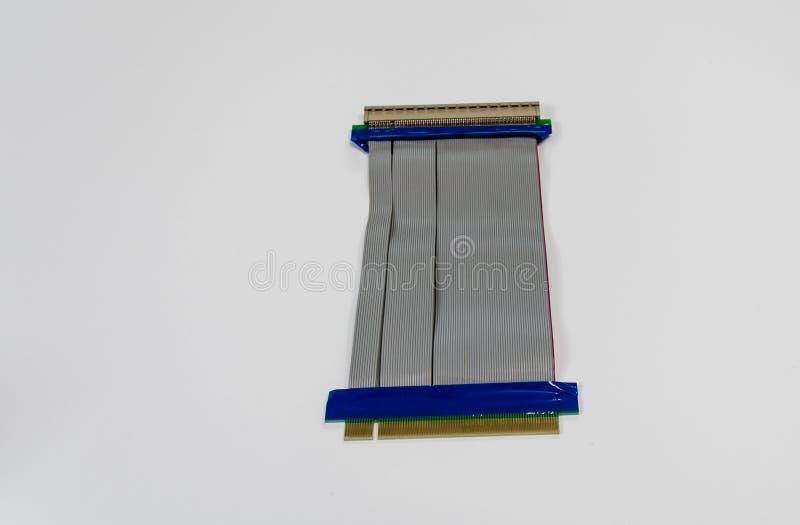 Colonna montante per lo slot PCI in desktop computer fotografia stock libera da diritti