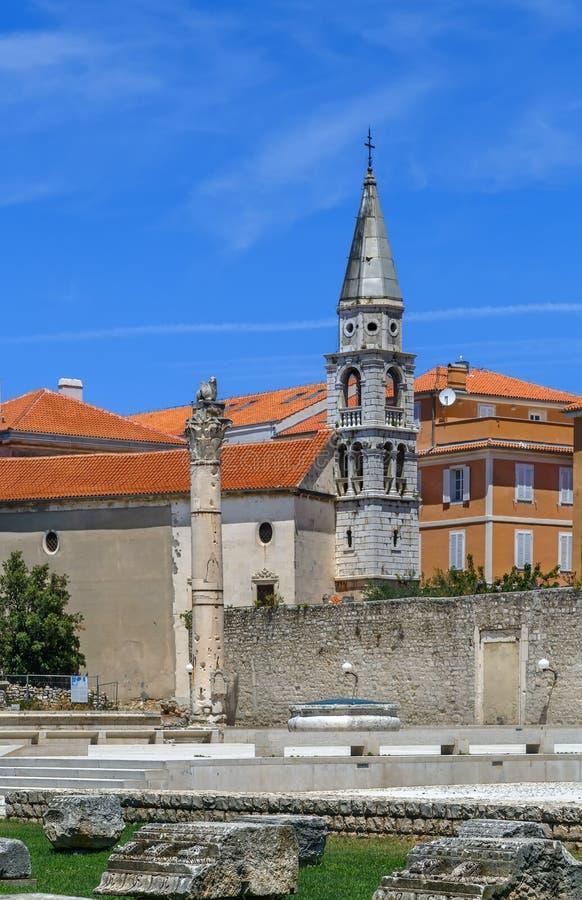 Colonna romana, Zadar, Croazia immagini stock
