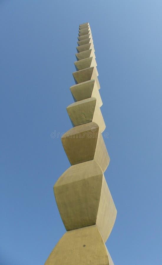 Colonna senza fine di Constantin Brancusi, Tg Jiu, Romania fotografie stock libere da diritti