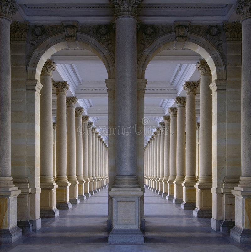 colonnade fotografering för bildbyråer