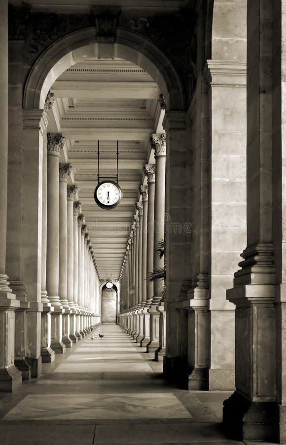 colonnade royaltyfria bilder