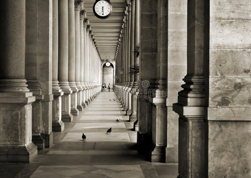 Colonnade. In Prague, Czech rep stock photo