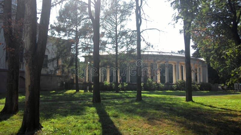 Colonnade in Arkhangelskoye-landgoed royalty-vrije stock afbeeldingen