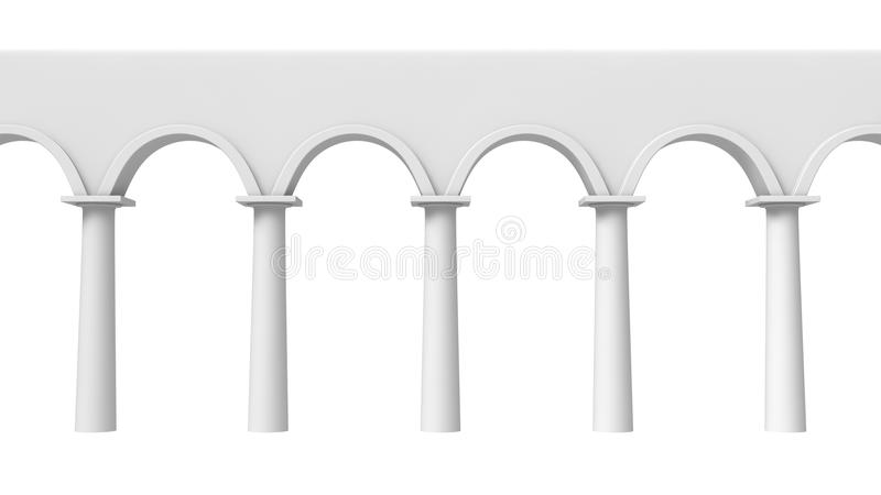 Colonnade frontal. Front view of abstract architectural colonnade vector illustration